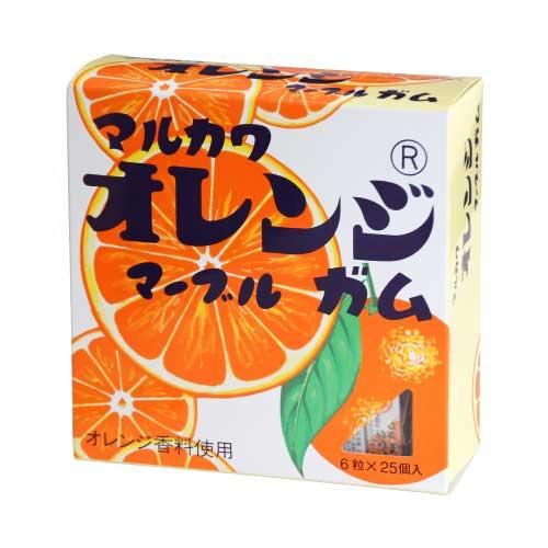 【現物】丸川製菓ビッグサイズ オレンジマーブルガム